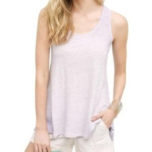 Anthropologie Akemi Kin Purple Linen Tank size s